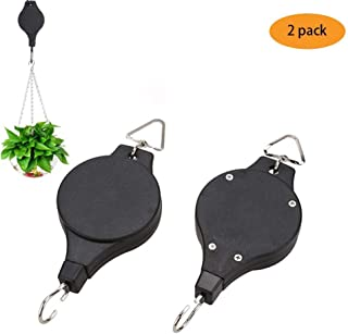 OUNONA 2pcs 1//8 Heavy Duty Adjustable Rope Clip Hanger,Rope Hanger for Grow Light Fixtures Gardening