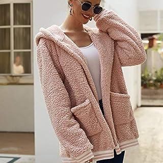 Chaqueta de Mujer Abrigo Invierno Sudaderas con Capucha Manga Cárdigan Suéter Informal CáLida Lana Cordero para Jerseys Pu...