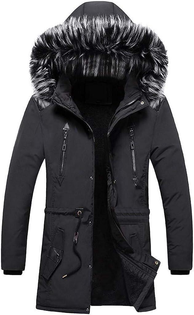 MODOQO Men's Winter Warm Down Parka 毎日続々入荷 Ho Zipper with Hood ギフト Coat Fur