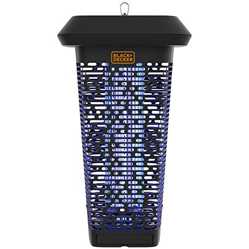 BLACK + DECKER Bug & Fly Zapper | Electric UV Insect Catcher & Killer for Flies and Gnats | Mosquito Repellent for Patio|2 Acre Outdoor Coverage for Home, Deck, Garden, Patio Commercial Strength