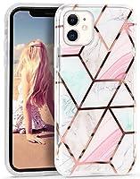 iPhone 11 ケース Imikoko iPhone 11 カバー 6.1インチ iPhone 新型 2019 ソフト TPU+PC製 スマホ保護ケース カバー 弾力性付き 高感度なポタン アンチスクラッチ 擦り傷防止 軽量薄型 耐衝撃 スマホケース 大理石柄