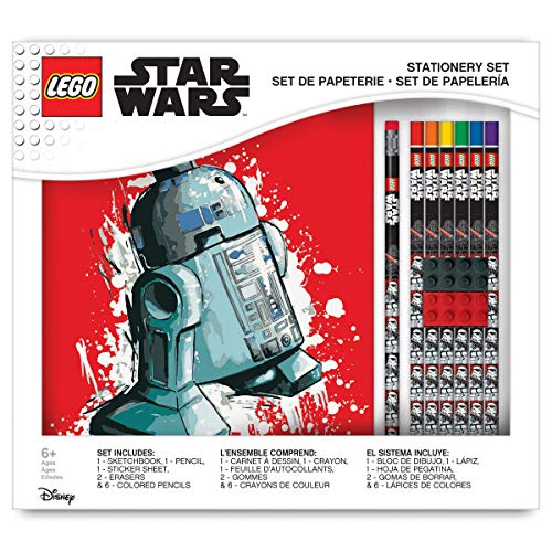 IQ Star Wars Deluxe Drawing Gift Set with a Sketchbook, Erasers, Stickers, Colored Pencils, and Graphite Pencils
