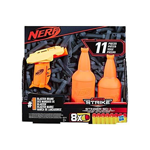Lanca Dardos Nerf Alphastrike Stinger Com Target - E8310 - Hasbro Nerf Lanca Dardos Nerf Alphastrike Stinger Com Target Amarelo E Laranja