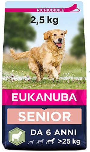 Eukanuba Cibo Secco per Cani Anziani di Taglia Grande, Ricco di Agnello e Riso, 2,5 kg