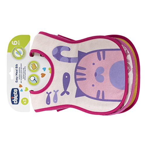 Chicco Bavaglini Pappa 6M+, Assortiti