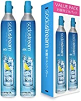 SodaStream Gas Cylinder 23.6 fl oz (60 L) x 2 Bottles (New Purchase)