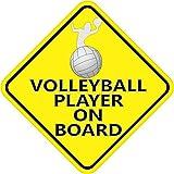 12,7x 12,7cm Volleyball Player on Board Bumper Aufkleber Vinyl Aufkleber Fenster Sticker Auto Aufkleber