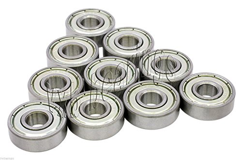 10 Bearing 608ZZ Shielded 8x22x7 Miniature Ball Bearings VXB Brand