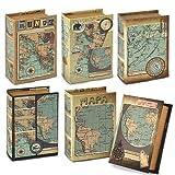 Caja Libro Mapa (1 unidad) 10x14 cm