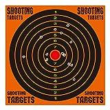 kefit 10 Inch Shooting Targets 10 Pack, Shots Burst Bright Fluorescent Orange Upon Impact, Reactive Splatter Targets for BB Gun, Gun Rifle, Airsoft, Pistol