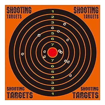 kefit 12 Inch Self Adhesive Shooting Targets Shots Burst Bright Fluorescent Orange Upon Impact Reactive Splatter Targets for BB Gun Gun Rifle Airsoft Pistol