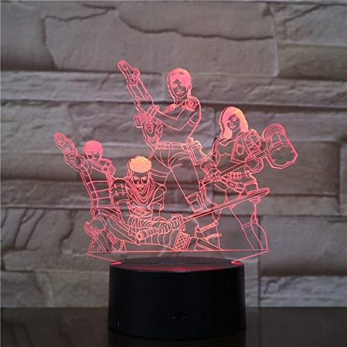 Equipo gráfico lámpara Noche luz Tipo de Cambio de Color Dormitorio Dormir iluminación decoración del hogar Regalo Ventas directas