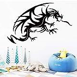 mlpnko Flying Dragon Etiqueta de la Pared Etiqueta de la Pared Sala de Estar Dormitorio Dormitorio Decoración de la cabecera Etiqueta Mural,CJX10833-30x43cm