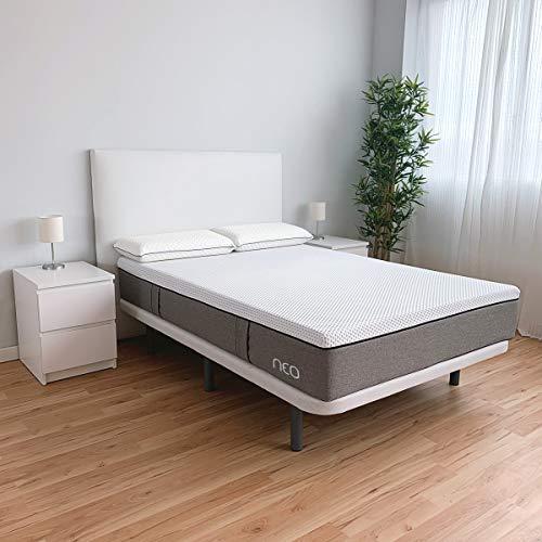 Duérmete Online - Colchón Premium Viscoelástico Neo, Adaptabilidad y Confort, Tecnología y Diseño (Todas las Medidas) 80x190