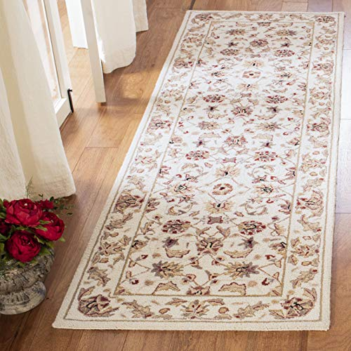 Safavieh Chelsea Collection HK78C Hand-Hooked Ivory Premium Wool Runner (2