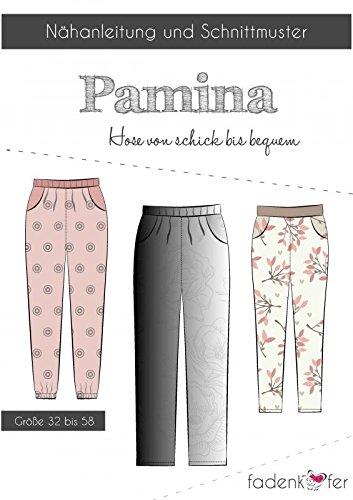 Stoffe Werning Schnittmuster Fadenkäfer Pamina - Damenhose Gr.32-58 Papierschnittmuster