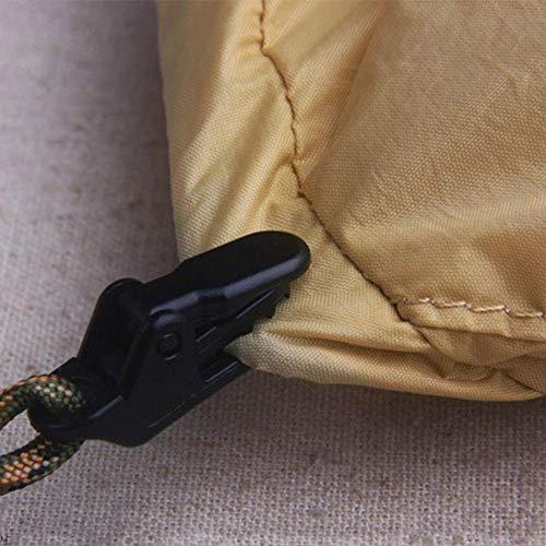 Clips de lona Abrazaderas de toldo a prueba de viento Broches de tienda de campaña Abrazaderas de plástico de pinza de cocodrilo Juego de clips de tolva de plástico a prueba de viento para actividades