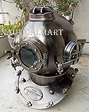 Nautical Antique Scuba SCA Divers Diving Helmet US Navy Mark V Deep Sea Marine