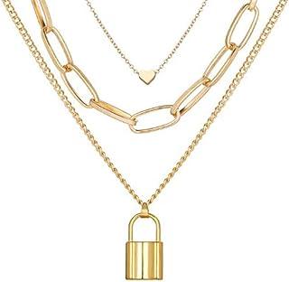 YouBella Alloy Brass Pendant Necklace Jewellery for Women (Multicolour)