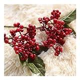 Realista Decoración de Navidad 10PCS / SET 10MM falso artificial de frutas bricolaje espuma de simulación de la fruta de la cereza hogar de la boda escritorio de la tabla natural ( Color : Red )