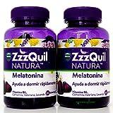 Zzzquil Natura Melatonina |Ayuda a Dormir|2 envases de 60 gominolas| (TOTAL 120 GOMINOLAS)