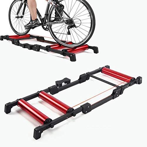 Rodillos bicicleta plegable cubierta del rodillo bicicleta de ciclo Trainer, la estación...