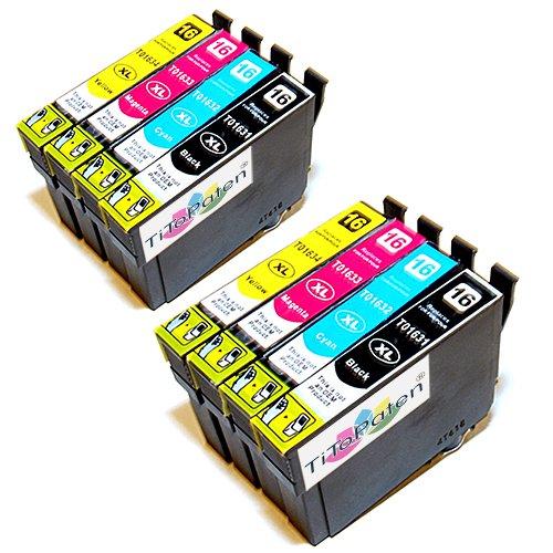 8X Epson Workforce WF 2530 WF kompatible XL Druckerpatronen - 2xSchwarz-2xCyan-2xMagenta-2xGelb - Patrone MIT CHIP !!!