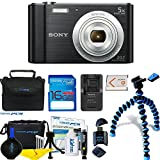 Sony Cyber-Shot DSC-W800 Digital Camera (Black) + Deal-Expo Essential Accessories Bundle