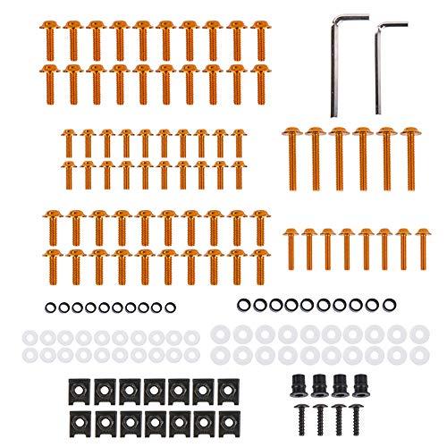 XX ecommerce Motorrad Aluminium Komplett Verkleidung Bolzen Schraube Verschluss Clip für K-T-M 690 1090 1280 Super Duke RC (Orange)