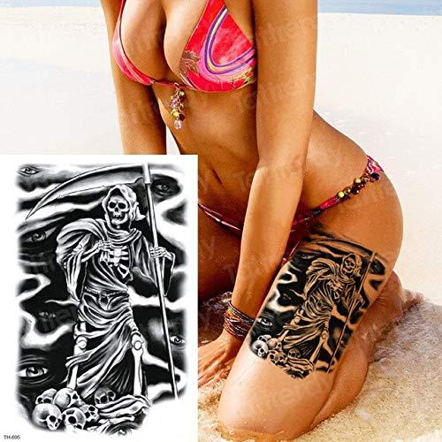 Handaxian 3pcsJawais Samouraïs Tatouage Noir Sketch Design Tatouage Manchon Autocollant De Tatouage pour Hommes