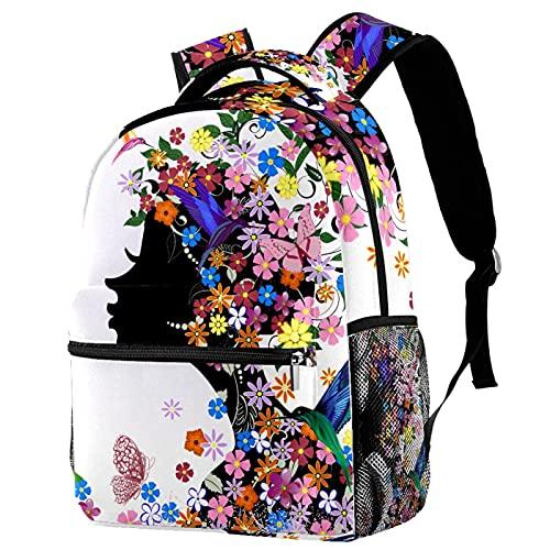 Mochila para niños Chica Mariposa Mochilas Escolares para niños y niñas Mochilas Escolares Creativo para Viaje de Estudios 29.4x20x40cm