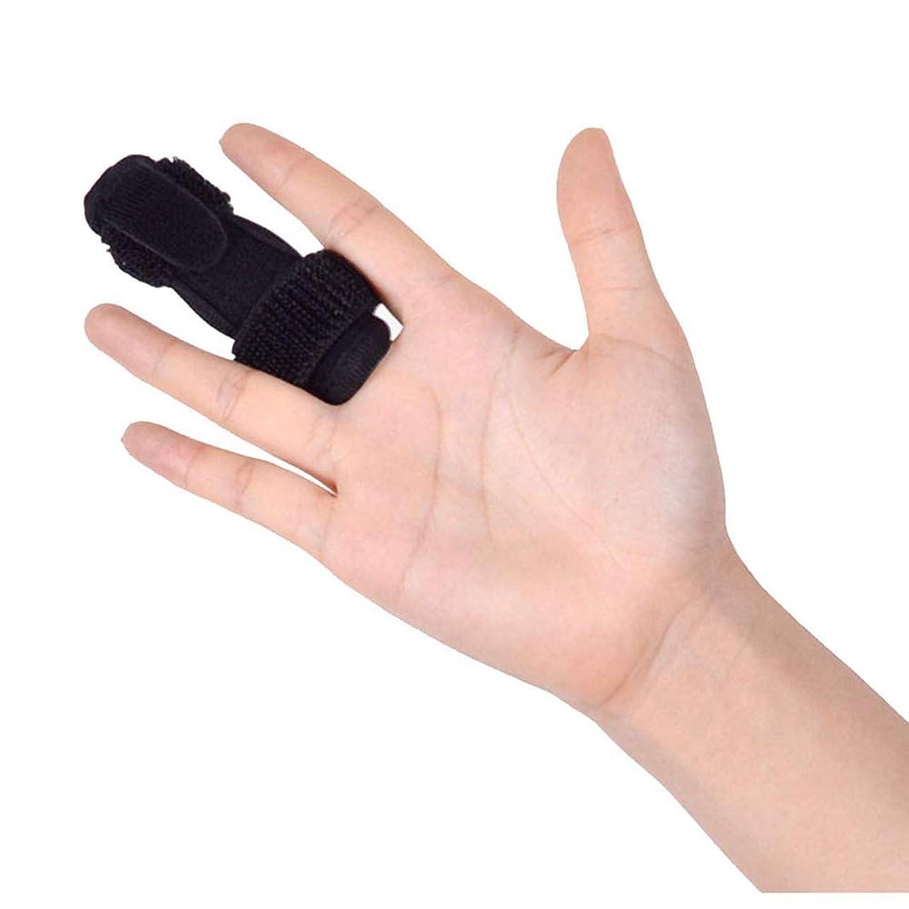 道一晩バトル指サポーター 指保護 ばね指サポーター 腱鞘炎 調整自在 気性良好 左右兼用 ブラック
