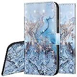 Surakey Etui Coque iPhone 7 Plus/8 Plus Étui Housse en Cuir Portefeuille Coque Magnétique Flip Cover Fentes de Cartes Dessin Imprimé Pochette Coque Protection avec à Rabat Stand, océan
