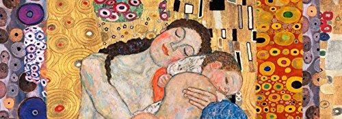 Feeling at Home Kunstdruck auf LEINWAND im SCHATTENFUGENRAHMEN Klimt- Gustav Deco Panel-Tod und Leben Leinwandbilder im moderner Holzrahmen figürlich Horizontal cm_56_X_164