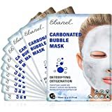 Ebanel 10 Pack Carbonated Bubble Clay Mask, Deep Cleansing Face Mask for Acne and Pores, Detox Volcanic Ash and Bentonite Clay Mask with Collagen Peptides, Vitamin C, Hyaluronic Acid, Niacinamide
