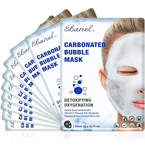 Ebanel 10 Pack Carbonated Bubble Clay Mask, Deep Cleansing Face Mask blackheads