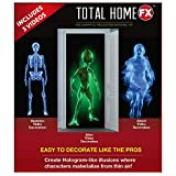 Total HomeFX 5.5' x 9' Mesh Fabric Projector Screen with 3 Halloween Videos on USB Seasonal Decorating Kit