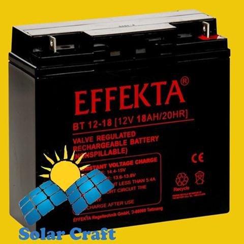 Solarmodul Batterie Akku elektromoteur Ladegerät Erneuerbare BT 18Ah 12V