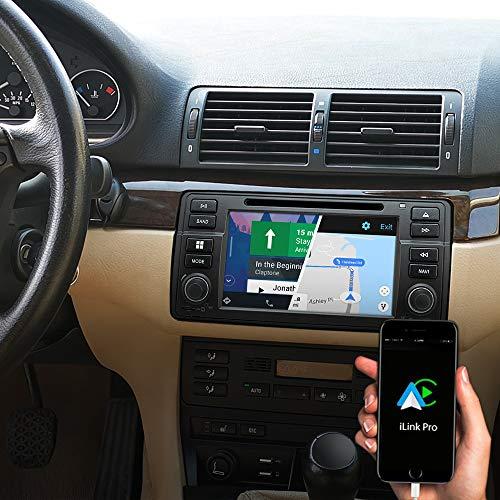 DYNAVIN N7-E46 Pro 7 Zoll Autoradio Navi GPS Navigation:Unterstützung von DAB + Digitalradio iOS Android Auto BT Rückfahrkamera Ready USB für BMW E46 3er 1998 – 2006