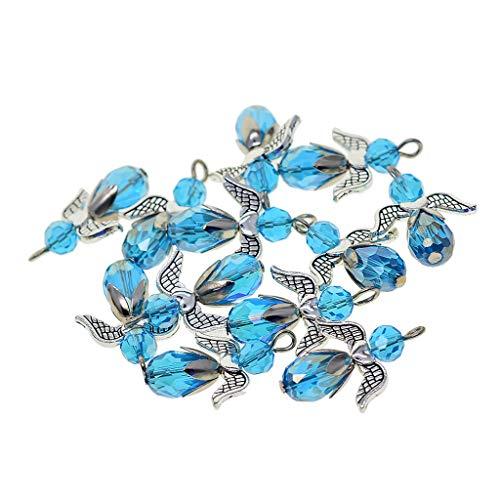 Perfeclan 12 Pezzi Pendenti con Ciondoli a Forma di Angelo Ciondoli per Gioielli Ciondoli in Metallo Accessori per Gioielli Fai da Te - Blu Reale