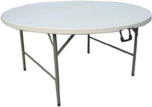 caliente Folding table LVZAIXI Mesa Plegable rojoonda, doblada doblada doblada por la Mitad. Un Gran número de mesas rojoondas se sientan cómomujerte para Muchas Personas. (Color   blanco, Tamaño   1.6m)  autorización oficial