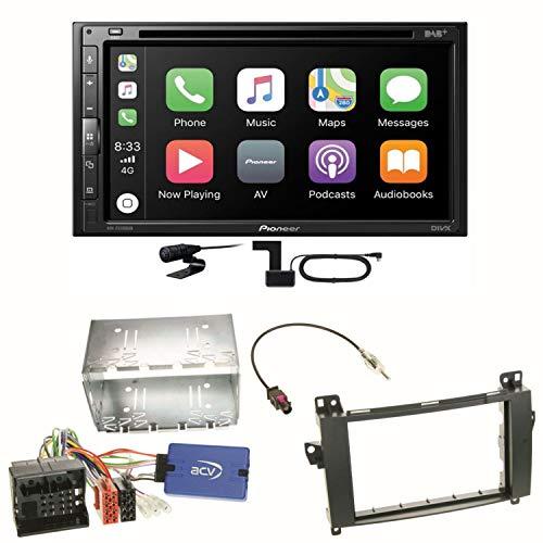 Pioneer AVH-Z5200DAB USB Android Auto Carplay Bluetooth Autoradio Touchscreen Moniceiver Freisprecheinrichtung Weblink WAV AUX AAC Einbauset für Mercedes Vito W447