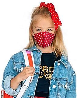 Set di 3 Maschere a 2 strati per Bambini a 7-12 Anni, 100% Cotone, Lavabili e Riutilizzabili, Handmade