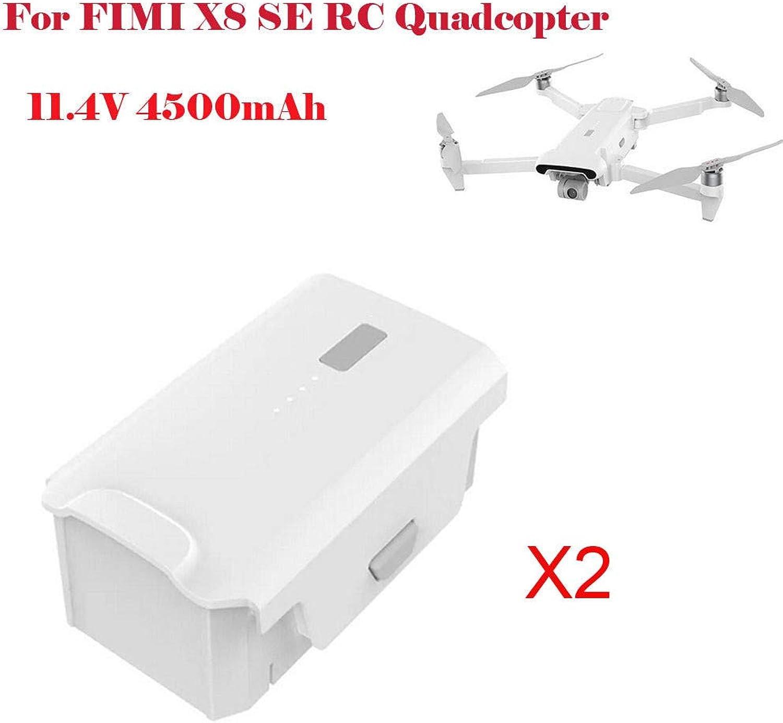 Dapei 2 Stück 11,4V RC Drohne Batterie für Xiaomi FIMI X8 SE RC Quadcopter Fahren Akku für FPV Hubschrauber Hochleistungs Lipo Akku, 4500mAh