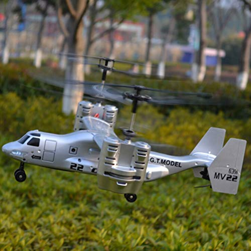 ADFEN 2.4GHz 4.5ch rc Drone Aircraft Remote Control Plane Airplane Helicopter Toy (Silver)