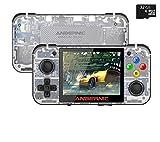 Anbernic RG350 Consola Retro Portatil con Tarjeta TF de 32 GB,14000 Juegos Clásicos Incorporados, Buena Consola Retro Sistema Opendingux CPU 4770,Consolas de Videojuegos 3,5 Pulgadas IPS(blanco)