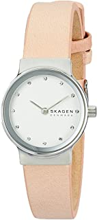 Skagen Women's Quartz Watch analog Display and Leather Strap, SKW2770