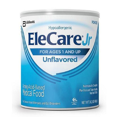 EleCare Jr Amino Acid Based Medical Food, Ages 1+, Unflavored 14.1 oz (Pack of 4)