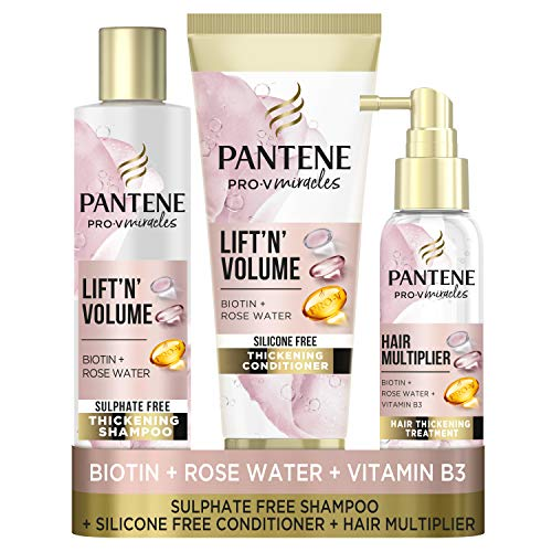 Pantene Lift 'N' Volume Sulfate Free Shampoo and Conditioner Set, a...