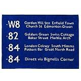 バスステーションラグ BUS STATION RUG [ 50×70cm / ネイビーブルー ]の写真